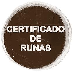 Pedir certificados de runas.