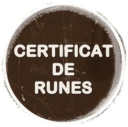 Demanar certificat de runes.