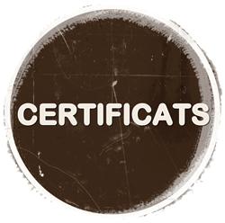 Certificats de residus.